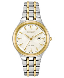 Eco-Drive Women's Two-Tone Stainless Steel Bracelet Watch 32mm