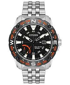 Citizen Eco-Drive Men's Stainless Steel Bracelet Watch 44mm