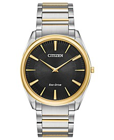 Eco-Drive Men's Stiletto Two-Tone Stainless Steel Bracelet Watch 38mm