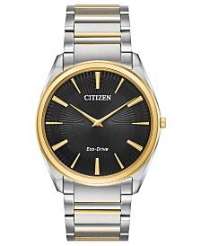 Citizen Eco-Drive Men's Stiletto Two-Tone Stainless Steel Bracelet Watch 38mm