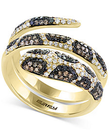 Confetti by EFFY® Diamond Snake Coil Ring (9/10 ct. t.w.) in 14k Gold