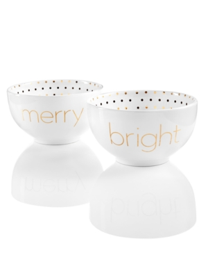 Merry and Bright Set2 Word Bowls Created for Macys