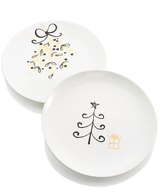 Merry and Bright 2-Pc. Salad Plate, Created for Macy's