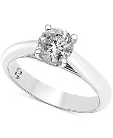 Diamond Solitaire Engagement Ring (1 ct. t.w.) in 14k White Gold (Also Available in Rose Gold & Yellow Gold)