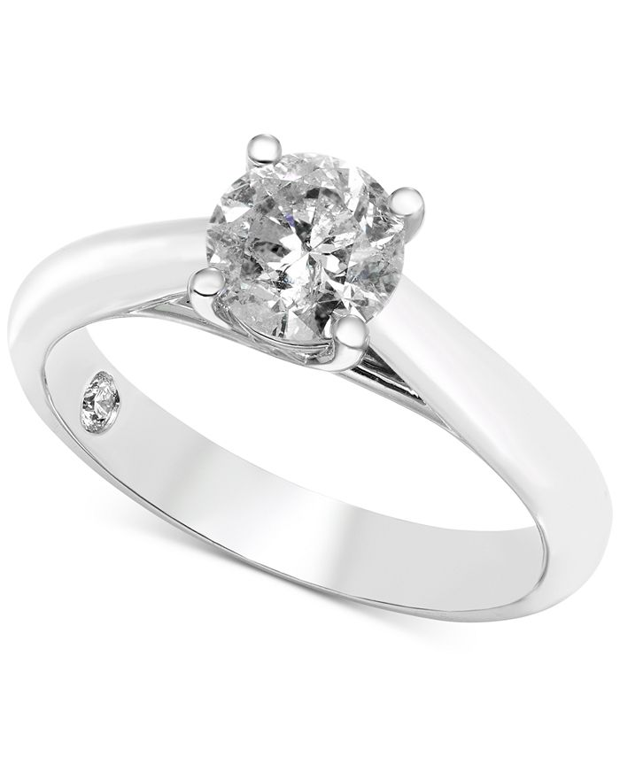 Macy's - Diamond Solitaire Engagement Ring (1 ct. t.w.) in 14k White Gold (Also Available in Rose Gold & Yellow Gold)