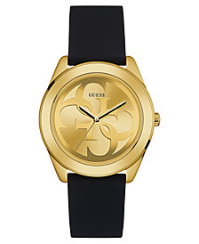 GUESS Women's Logo Black Silicone Strap Watch 38mm