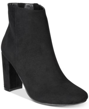 Material Girl Cambrie Block-Heel Booties, Created for Macy