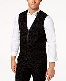 I.N.C. Men's Slim-Fit Flocked Paisley Vest, Created for Macy's