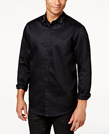 I.N.C. Men's Embroidered Shirt, Created for Macy's