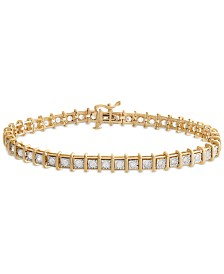 Diamond Tennis Bracelet (2 ct. t.w.) in 14k Gold, Rose Gold or White Gold