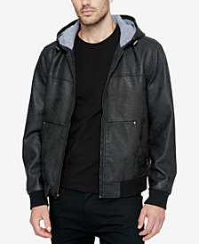 Levi's® Men's Faux-Leather Hooded Bomber