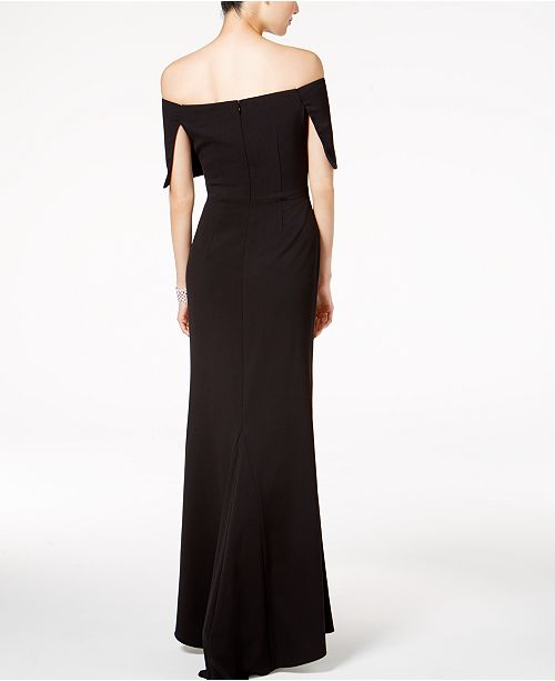 9bdefbdf7a5 Vince Camuto Ruched Off-The-Shoulder Gown   Reviews - Dresses ...