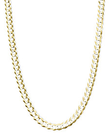 Curb Chain (4-3/5-7mm) Necklace in 14k Gold