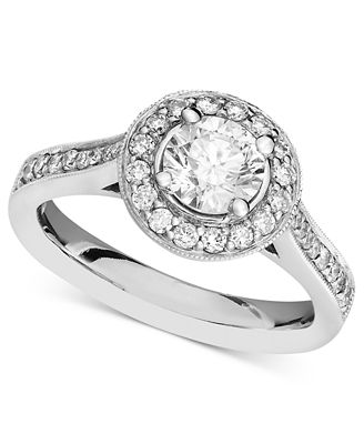 Diamond Engagement Ring in 14k White Gold (1-1/4 ct. t.w.)