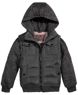 Ben Sherman Hooded Layered-Look Coat, Little Boys (4-7)