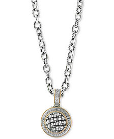 Balissima by EFFY® Diamond Pendant Necklace (1/3 ct. t.w.) in Sterling Silver & 18k Gold