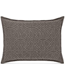 CLOSEOUT! Hotel Collection Connection Cotton Indigo King Sham, Created for Macy's