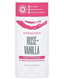 Schmidt's Deodorant Rose + Vanilla Deodorant Stick
