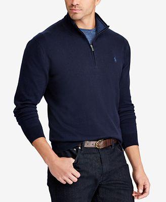 Polo Ralph Lauren Mens Big Tall Half Zip Sweater Sweaters Men