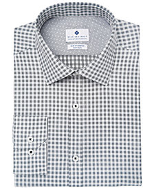 Ryan Seacrest Distinction™ Men's Slim-Fit Stretch Non-Iron Performance Check Dress Shirt, Created for Macy's