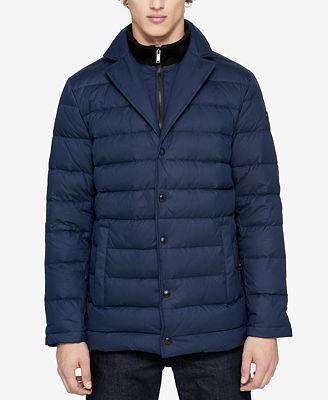 Calvin Klein Men's Notched-Lapel Puffer Jacket