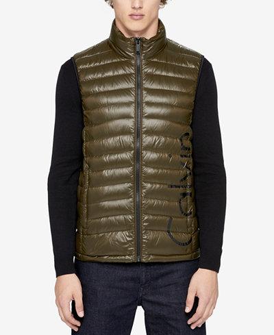 Calvin Klein Men's Logo Packable Puffer Vest