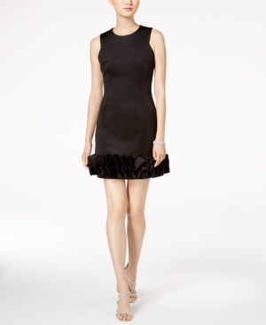 Donna Ricco  RUFFLE-HEM PARTY DRESS