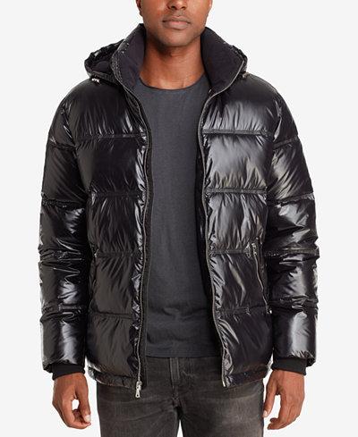 Sean John Men S Shiny Puffer Jacket Coats Amp Jackets