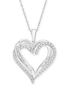"Diamond Heart Pendant 18"" Necklace (1/2 ct. t.w.)"
