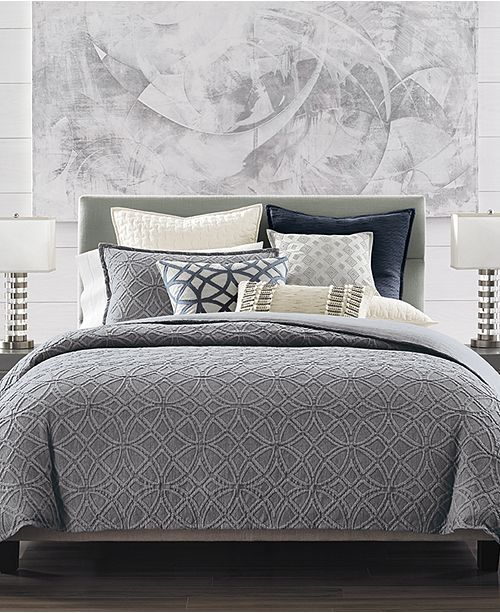 Hotel Collection Connection Indigo Duvet Covers, Created