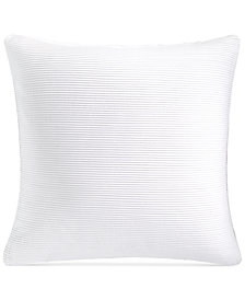 """Hotel Collection Greek Key Platinum 20"""" Square Decorative Pillow, Created for Macy's"""