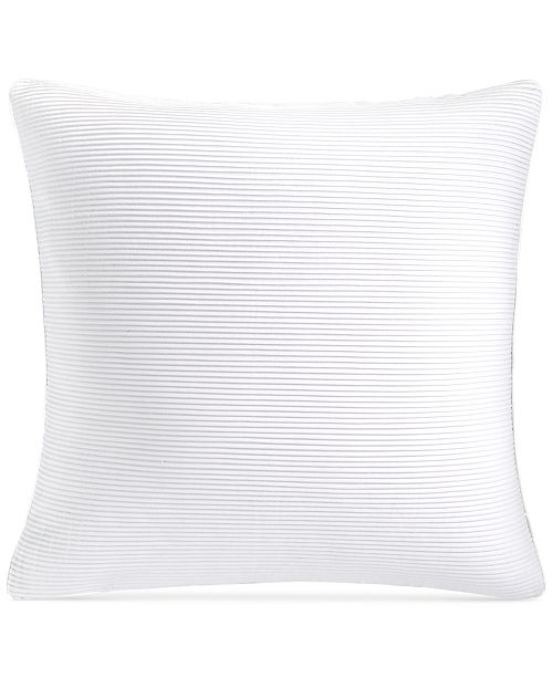 "Hotel Collection CLOSEOUT! Greek Key Platinum 20"" Square Decorative Pillow, Created for Macy's"