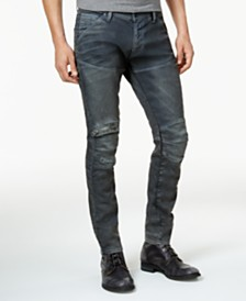 G-Star RAW Men's 5620 3D Zip-Knee Super Slim-Fit Jeans