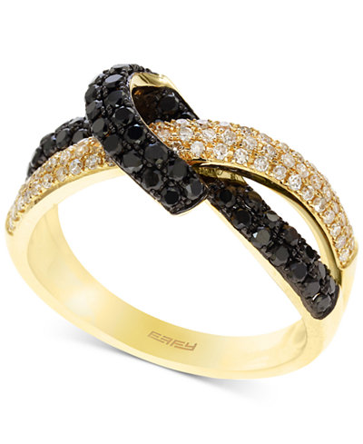 Caviar by EFFY® Diamond Knot Statement Ring (3/4 ct. t.w.) in 14k Gold