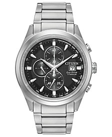 Citizen Eco-Drive Men's Chronograph Titanium Bracelet Watch 43mm