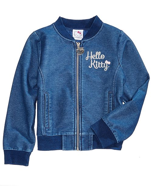 21d20635c Hello Kitty Toddler Girls Embroidered Denim Jacket & Reviews - Coats ...