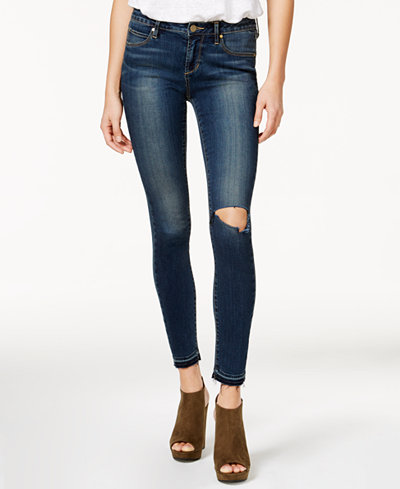 Articles of Society Sarah Ankle Skinny Ripped Released-Hem Jeans