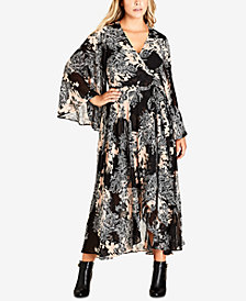 City Chic Trendy Plus Size Maxi Wrap Dress