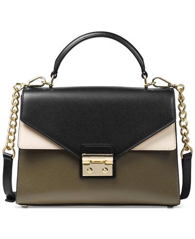 MICHAEL Michael Kors Sloan Medium Top-Handle Satchel - Handbags ...