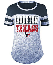 5th & Ocean Women's Houston Texans Space Dye Foil T-Shirt