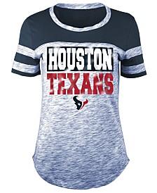 5th & Ocean Women's Houston Texans Space Dye Foil T-Shirt