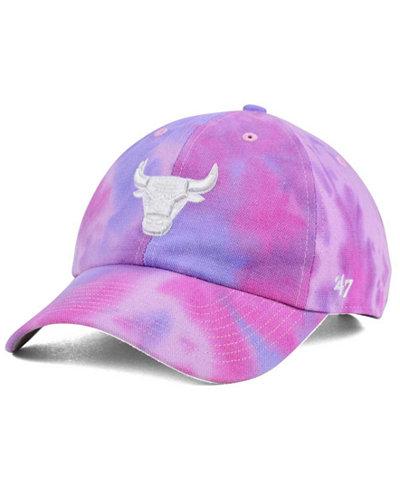 '47 Brand Chicago Bulls Pink Tie-Dye CLEAN UP Cap