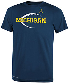 Nike Michigan Wolverines Legend Icon Football T-Shirt, Big Boys (8-20)