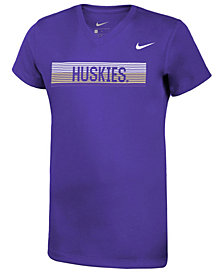 Nike Girls' Washington Huskies Legend V-Neck Mascot T-Shirt