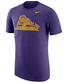 Nike Men's LSU Tigers Vault Logo Tri-Blend T-Shirt