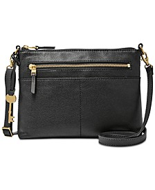 Fiona East West Leather Crossbody