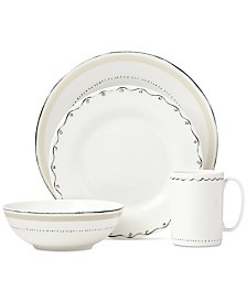 kate spade new york Union Square Taupe 4-Piece Place Setting