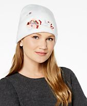I.N.C. Floral Embroidered Beanie, Created for Macy's