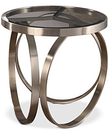 Blaine Stainless Steel End Table, Quick Ship