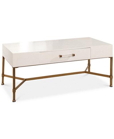 Ava Gold Iron Coffee Table, Quick Ship